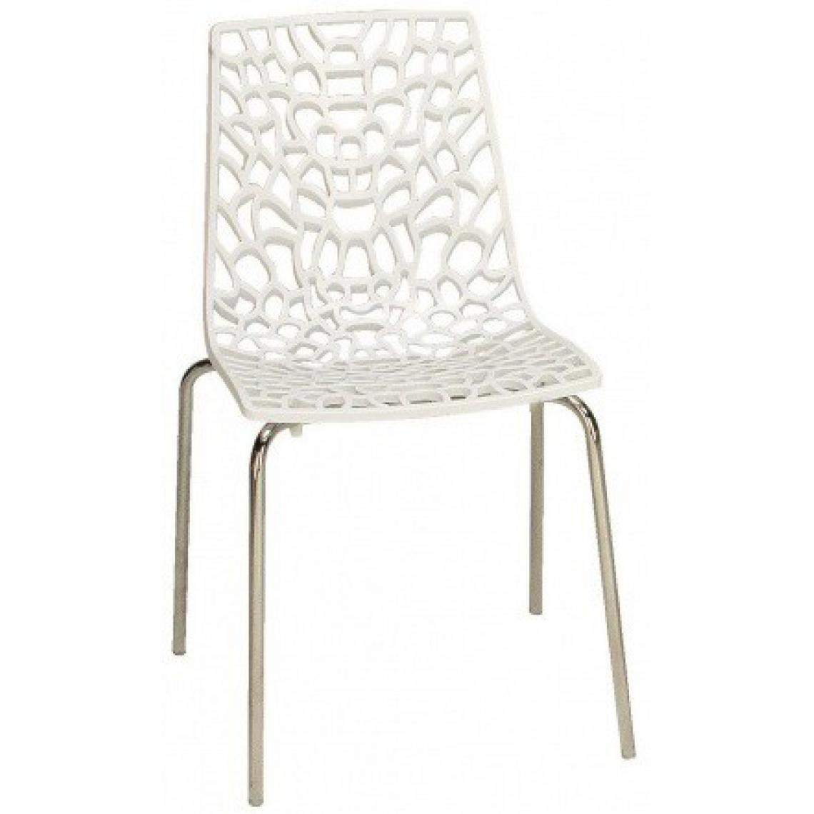 chaise design blanche traviata