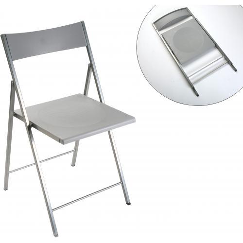chaise pliante argentee montmartre