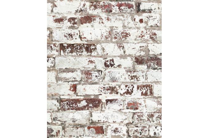 Papier Peint Style Trompe Lil Mur De Briques Uses Rouge