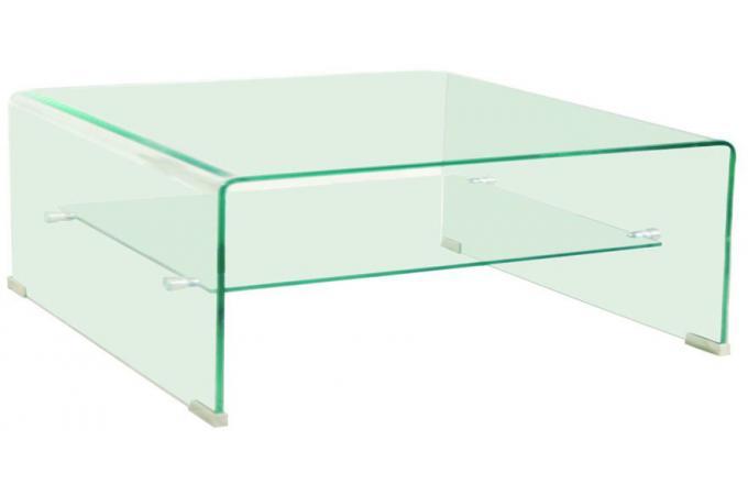 table basse carree en verre transparent otta