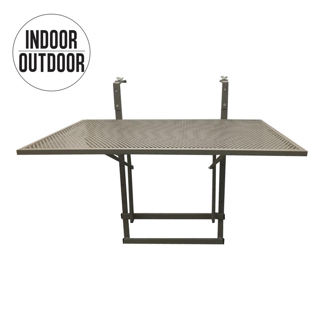 table de balcon pliable taupe