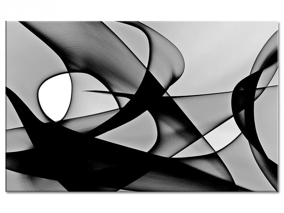 Tableau Design Vortex Noir Et Blanc En Verre Acrylique A Prix Bas