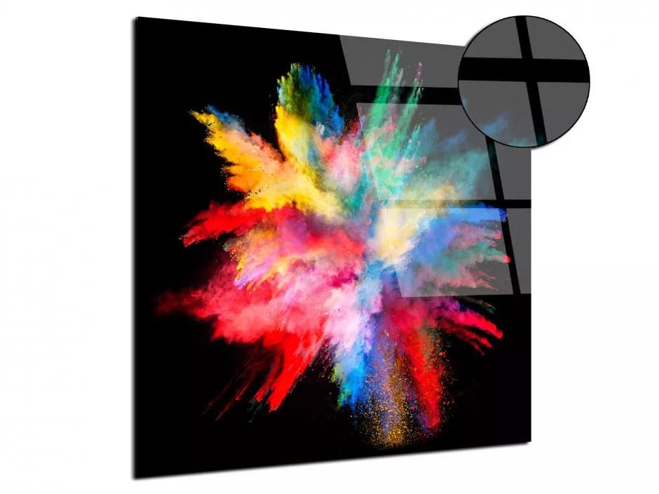 tableau plexiglas eclat de poudre de peinture