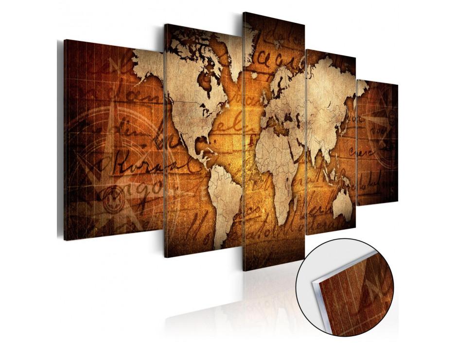 tableau sur verre acrylique acrylic prints bronze map i declina