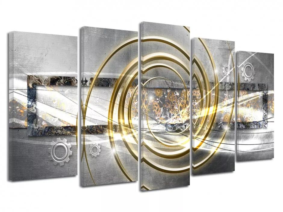 Tableau Abstrait Design Rouages Vente De Tableaux Xxl En Toile