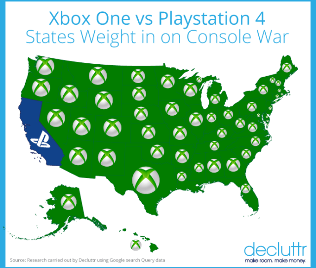 Decluttr Xbox Ps Map