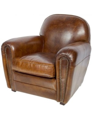 fauteuil cuir marron patin     grand large