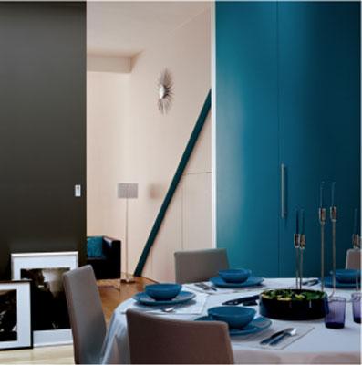 couleur salon le bleu pour le salon