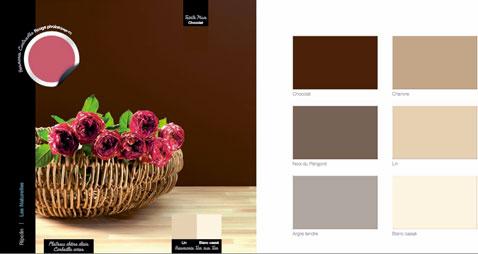Couleur Decoration Cuisine Salon Chocolat Lin Argile Et