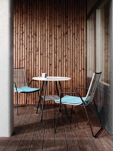 Salon De Jardin En Osier Gris Pieds Aluminium Boconcept