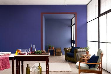 Salon Style Authentique Harmonie Bleu Ardoise Bleu Eclipse