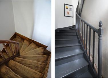 peindre un escalier en bois avec la