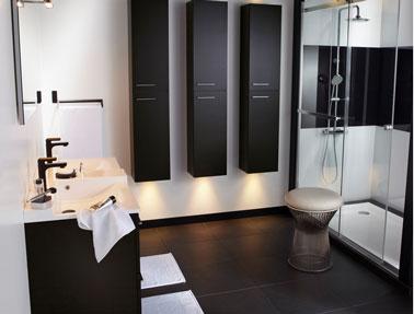 Salle De Bain Noir Et Blanc Cest La Tendance Dco Deco Cool
