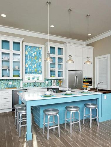 la cuisine bleu on l adore deco cool