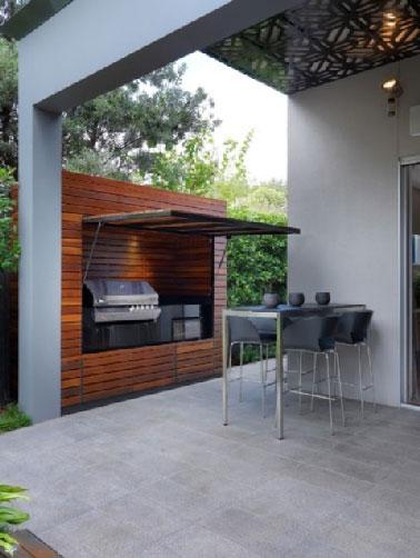 Cuisine Extrieure Design Installe Dans Construction Bois