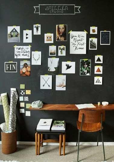 Accrocher Des Photos Dans Un Bureau Sans Les Encadrer