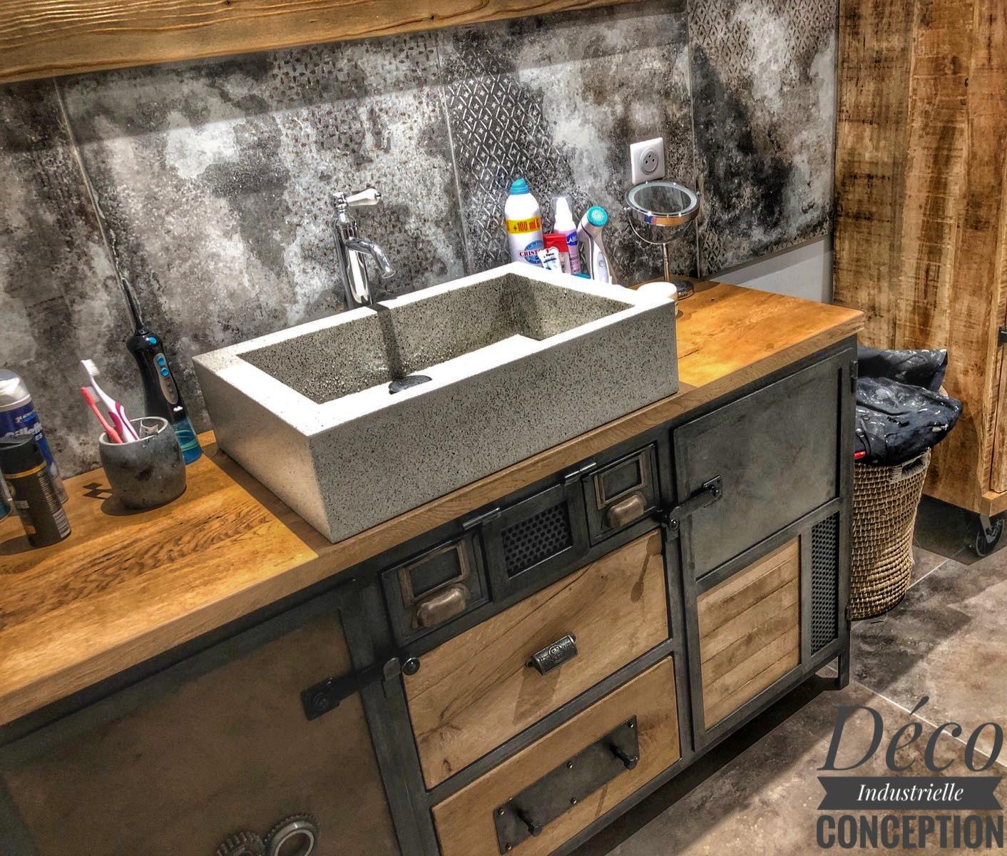 meuble salle de bain atypique deco