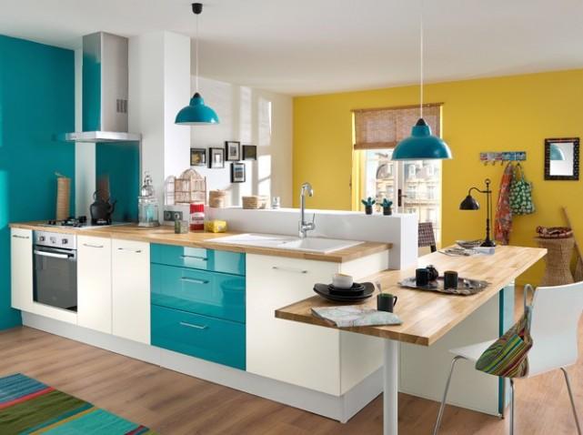 photo decoration cuisine bleu