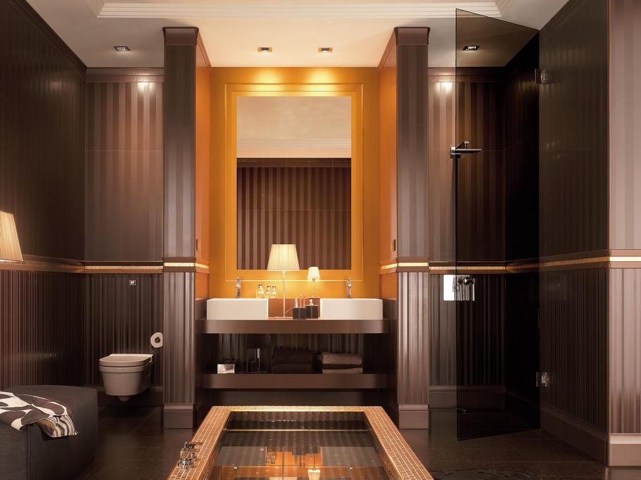 quelle decoration salle de bain marron