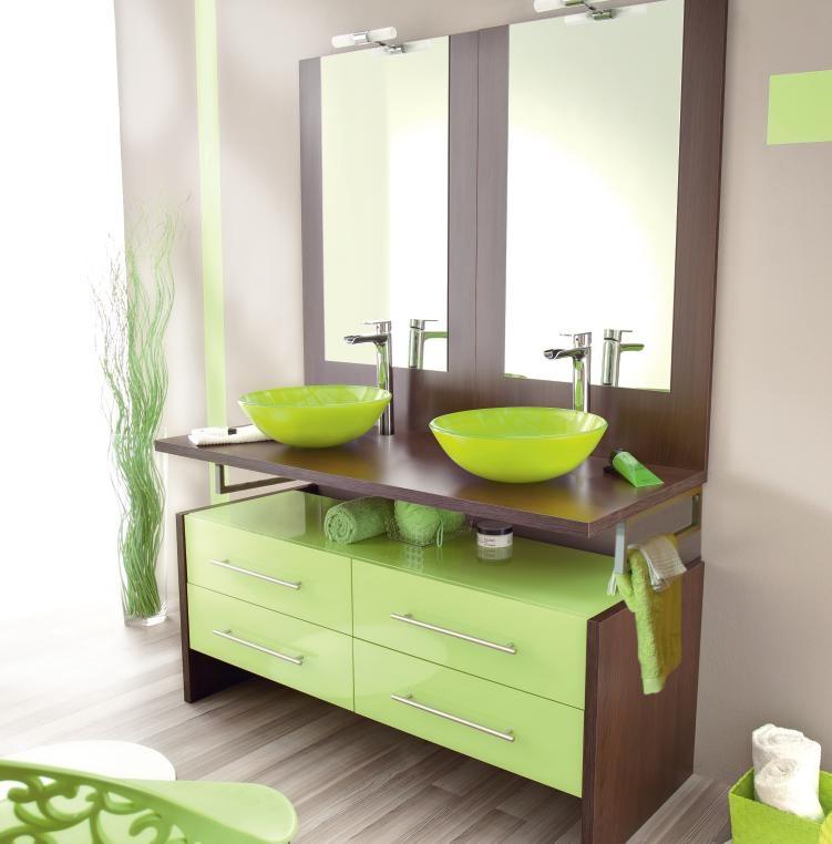 deco salle de bain vert bright shadow