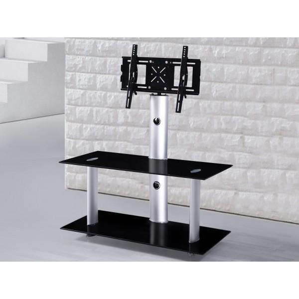 meuble tv hifi dalton pour ecran plat 110 cm noir deco meubles