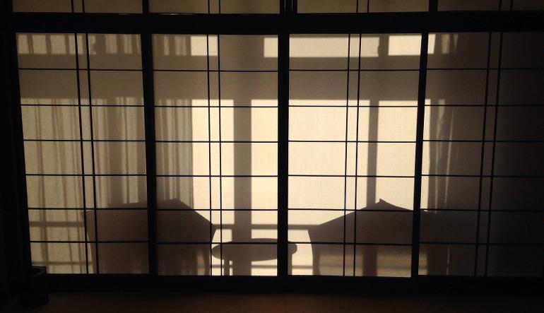 panneaux coulissants typiquement japonais