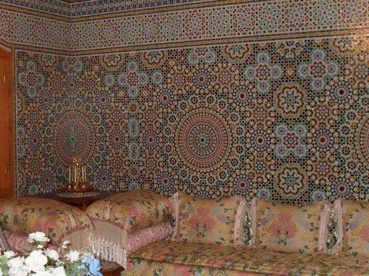 Salon Marocain Style Moderne Tissus Bahja