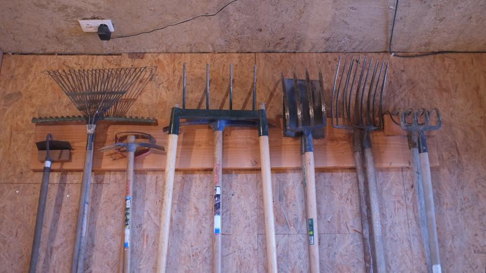 porte outils de jardin