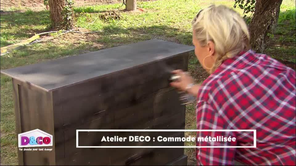 Donner Un Effet Metallise A Un Meuble En Bois M6 Deco Fr