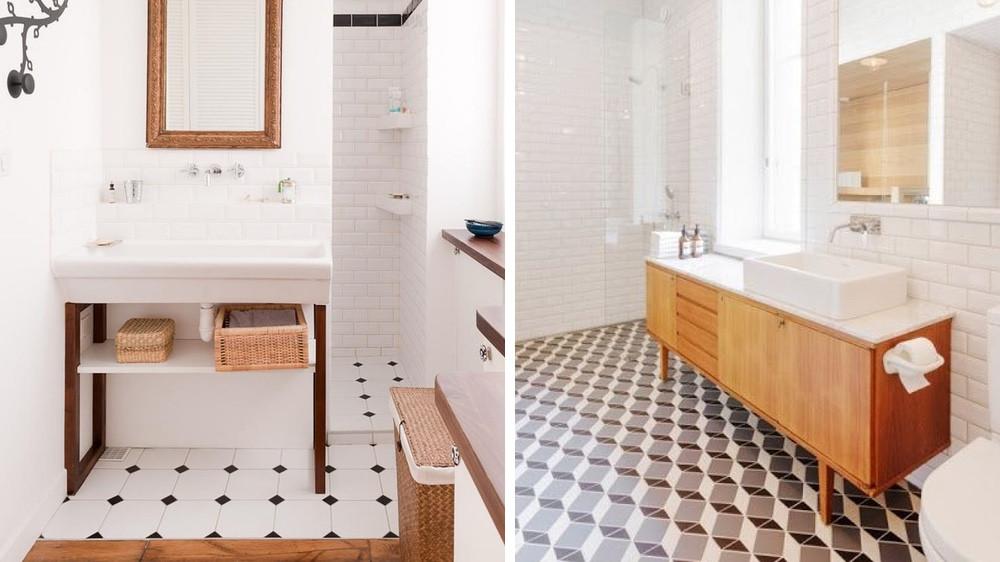 le carrelage dans la salle de bains