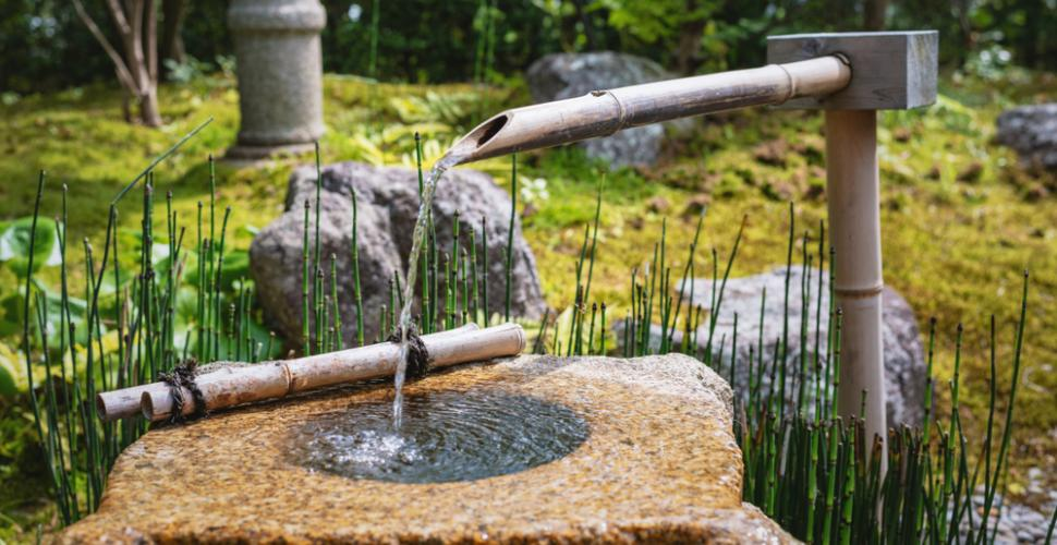 eau ferme pour un jardin zen