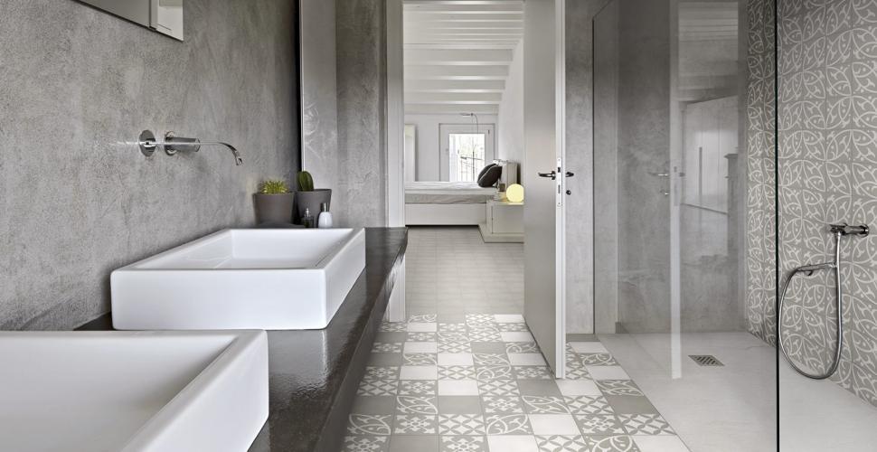 sol de la salle de bains