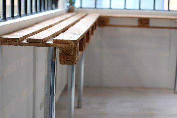 Tuto Une Table Haute En Palettes M6 Deco Fr