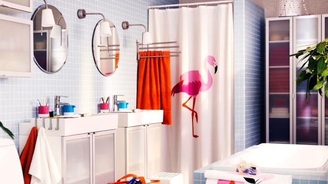ces rideaux de douche a motifs qui