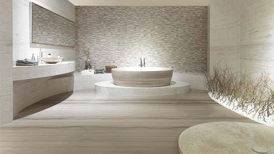 espace autour d une baignoire