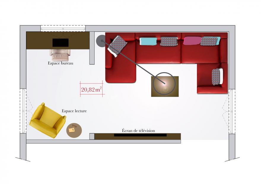 salon rectangulaire