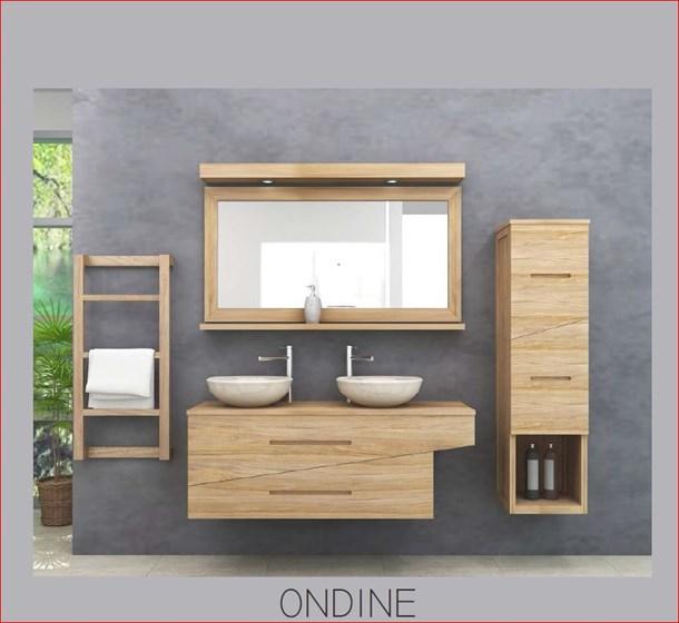 salle de bain en teck mobilier en teck