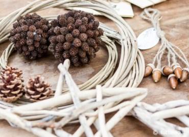 Aboutgarden boule Noel nature fruits aulne