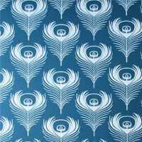 papier peint plumes paon Feather Ferm living
