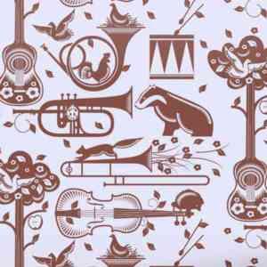 Papier peint-Pet Sounds-Heather and Bitter Chocolate- Mini Moderns