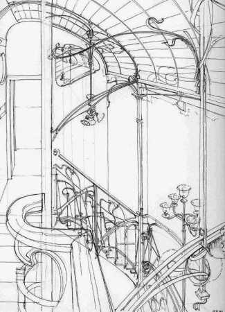 dessin-de-victor-horta