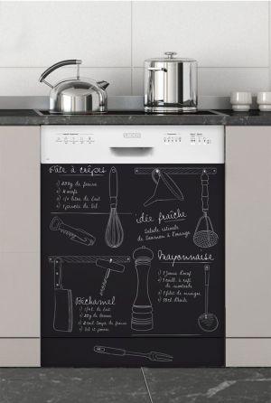 Tableau noir adhesif sur la machine ou sur le Frigo - Pinterest