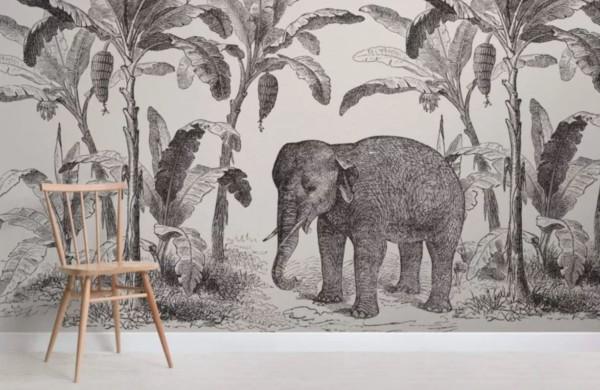 panoramique_Muralswallpaper_jungle-elephant_loxodonta