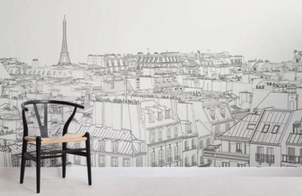 panoramique_Muralswallpaper_toits-de-paris