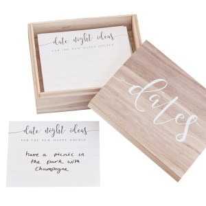 CW  Wooden Date Box With Date Cards Cut Out scaled