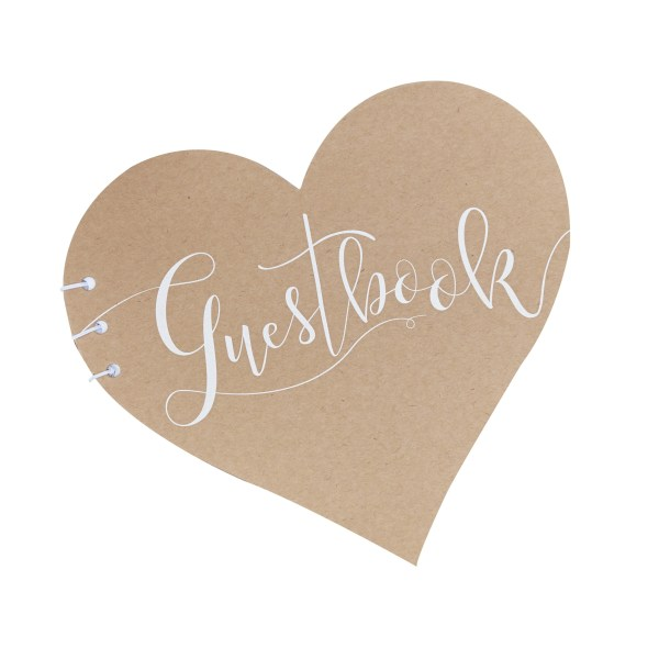 CW  Kraft Heart Guest Book Cut Out scaled