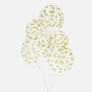 printed confetti balloons golden