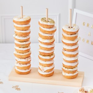 GO  Wooden Donut Stacker scaled