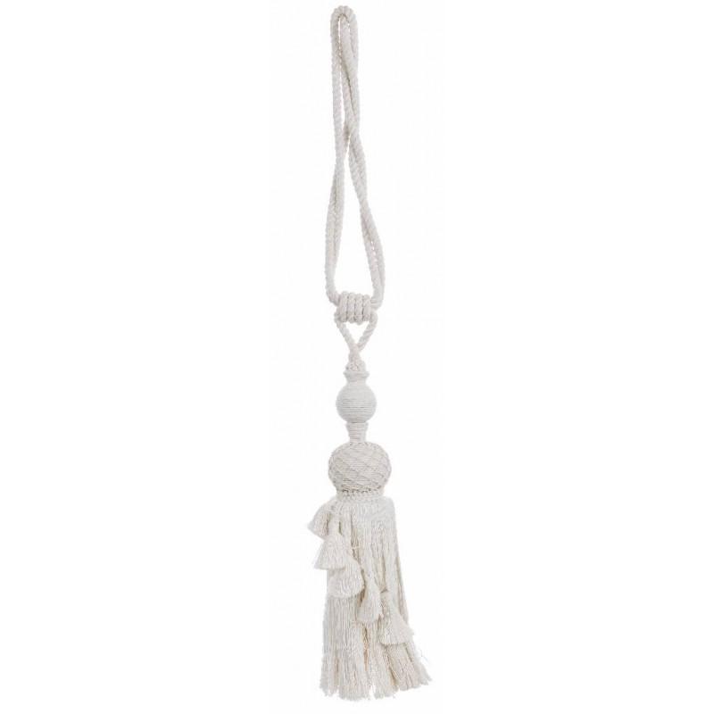 embrasse de rideau blanche de 40 cm par blanc mariclo ideale pour une deco shabby chic et romantique