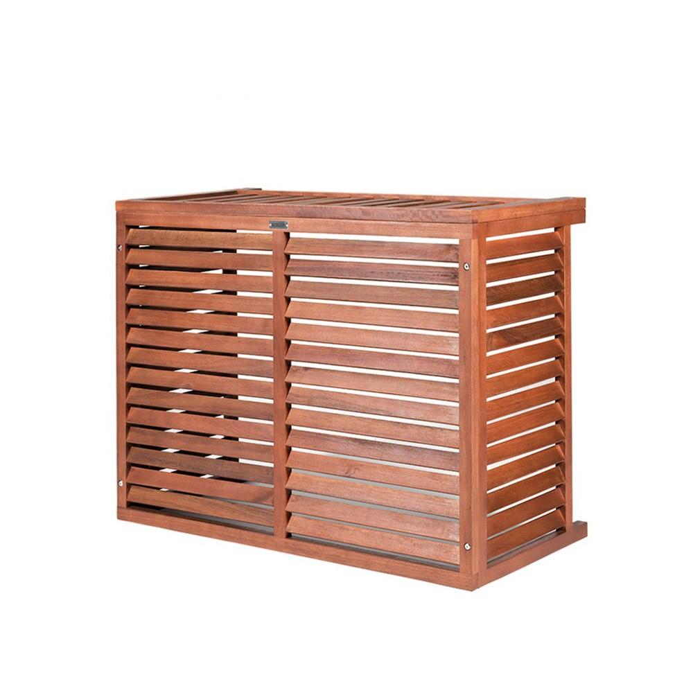Airton propose alors ce cache climatiseur idéal pour dissimuler pompe à chaleur ou groupe extérieur de climatisation installé au sol. Cache Clim Bois Decoclim Livraison Gratuite Pour Climatisation A Poser Ou Suspendre